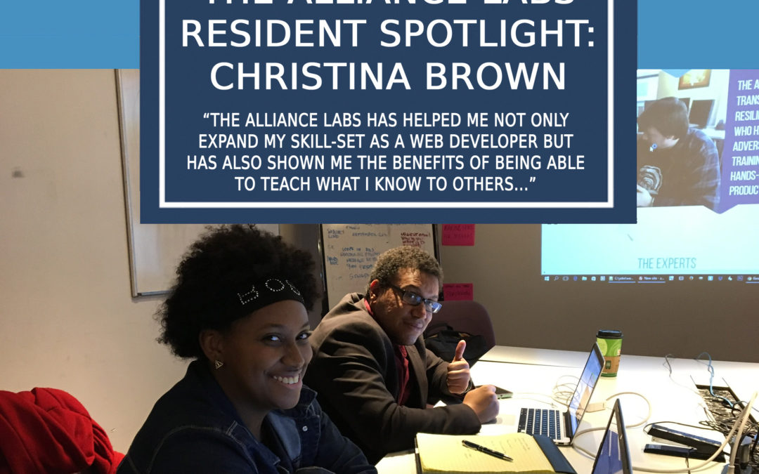 The Alliance Labs Resident Spotlight: Christina Brown