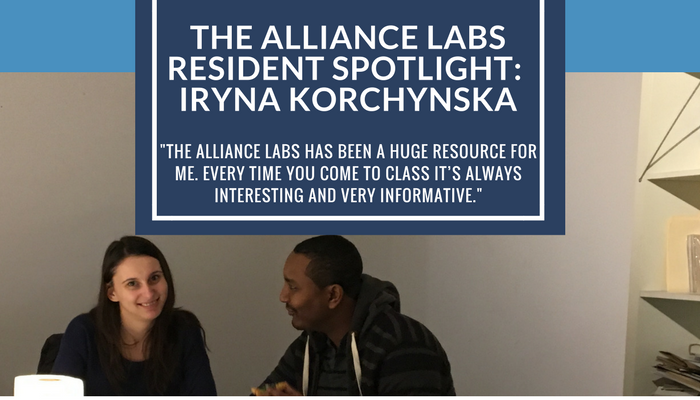 The Alliance Labs Resident Spotlight: Iryna Korchynska